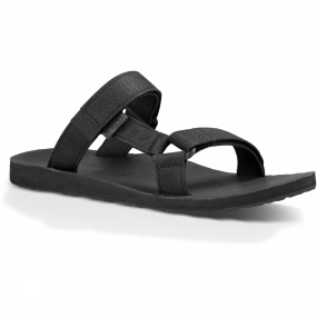 Teva Teva Mens Universal Slide Leather Sandal Black