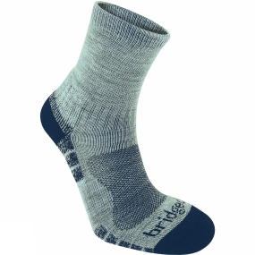 Bridgedale Mens WoolFusion Trail Light Sock Silver / Navy