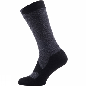 Product image of SealSkinz Men's Walking Thin Mid Socks Olive Marl/Charcoal