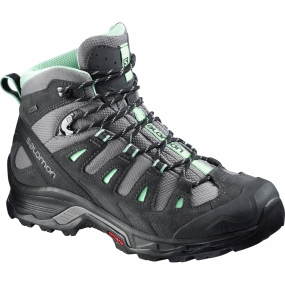 Salomon Womens Quest Prime Gore-Tex Boot Detroit/Ashpalt/Lucite Green