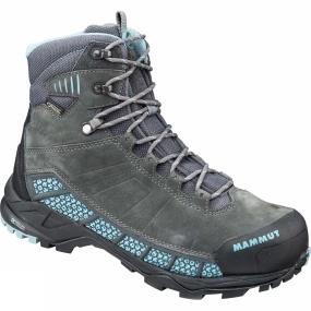 Mammut The Womens Comfort Guide High GTX Suround from Mammut is a pair of boots that are great for wheverer your hike takes you be it over rocky terrain or through forest paths & trails.