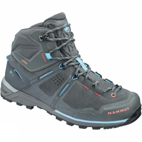 Mammut The Womens Alnasca Pro Mid GTX from Mammut is a pair of boots that are great for wheverer your hike takes you be it over rocky terrain or through forest paths & trails.
