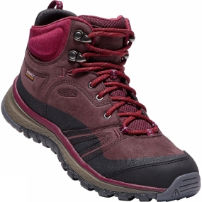 Keen Keen Womens Terradora Leather Mid Waterproof Boot Wine/Rododendron