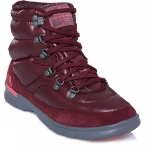 The North Face Womens Thermoball Lace II Boot Shiny Deep Garnet