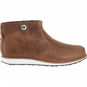 Vaude Stylish, versatile, Womens UBN Solna Mid Shoe for spring and summer. Every pair is unique - these eco-friendly boots made from premium quality Terracare Leather from the German leather manufacturer Heinen aren