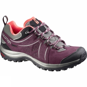 Salomon Salomon Womens Ellipse 2 Leather Shoe Swamp / Pinot Noir
