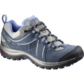 Salomon Salomon Womens Ellipse 2 Leather Shoe Titanium/Deep Blue/Petunia Blue