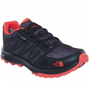 The North Face The North Face Womens Litewave Fastpack GTX Shoe TNF Phantom Grey Heather Print/Cayenne Red