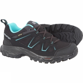 Product image of Salomon Womens Tibai GTX Low Shoe Black/Black/Ceramic