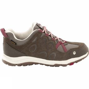 Jack Wolfskin Jack Wolfskin Womens Rocksand Texapore Low Shoe Dark Ruby