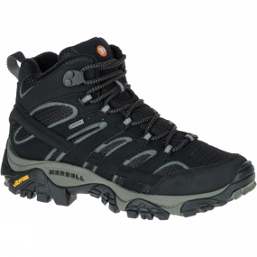 Merrell The Womens Moab 2 Mid GTX Boot from Merrell is designed for out-of-the-box comfort. With its durable synthetic leather upper, supportive footbed, and Vibram traction rubber sole, as soon as you put them on, you will find out why Moab stands for Mother-Of-All-Boots.