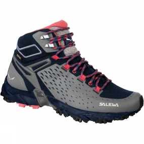 Salewa The Womens Alpenrose Ultra Mid GTX Boot from Salewa is a waterproof, breathable mid-cut shoe designed for speed hiking and high-intensity mountain training. Built around Michelin