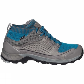 Vaude The Womens TRK Skarvan STX Shoe from Vaude mean when in these waterproof hiking shoes you are sure to leave a smaller carbon footprint thanks to eco-friendly materials. The seamless sock-like construction (50% recycled material) ensures a high degree of comfort and an optimal fit throughout the entire shaft. The durable leather upper provides a perfect fit and firm support. This high quality Terracare leather comes from Germany and is manufactured in accordance with the most stringent environmental standards. Thanks to the environmentally friendly Sympatex membrane (made from 100% recycled materials and completely PFC-free), this low-cut hiking shoe is absolutely waterproof and breathable. The stiff, high traction outsole (V-Flow 6) provides sure footing and reliable support on unsecured, rough terrain.
