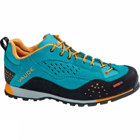 Vaude Designed for climbing approaches: lightweight and waterproof approach mid cut boot with excellent breathability and premium Vibram sole. The material mix and the sole tread were designed specifically for approaches. The shoe