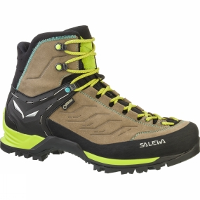 Salewa Salewa Womens Mountain Trainer Mid GTX Boot Walnut/Swing Green