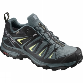 Salomon Salomon Womens X Ultra 3 GTX Shoe Artic/Darkest Spruce/Sunny Lime