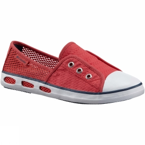 Columbia Womens Vulc N Vent Bombie Slip-On Shoe Sunset Red / Whale
