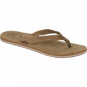 Reef Womens Chill Leather Flip Flop Tan