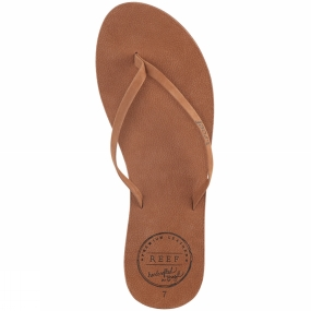 Reef Womens Leather Uptown Flip Flop Cocoa