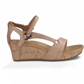 Teva Teva Womens Capri Wedge Sandal Rose Gold