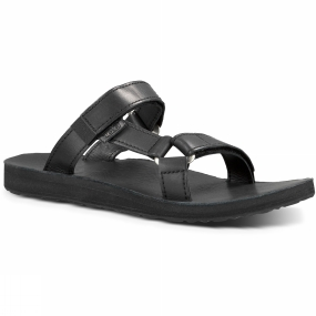 Teva Teva Womens Universal Slide Leather Sandal Black