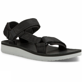 Teva Teva Womens Original Universal Premier Leather Sandal Black