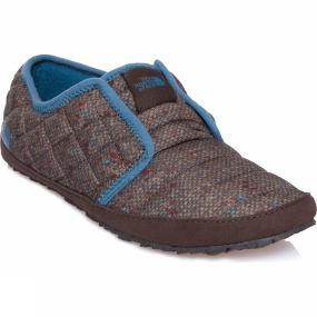 The North Face Womens ThermoBall Traction Mule II Tweed Print / Tapestry Blue