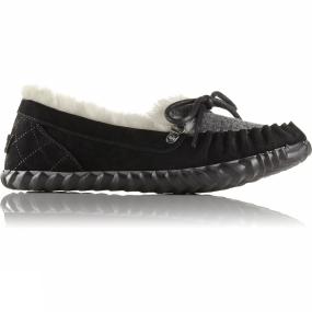 Sorel Womens Out N About Slipper Black/Quarry