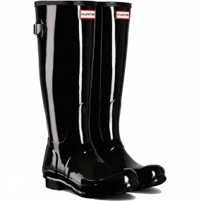 Hunter Womens Original Back Adjustable Gloss Welly