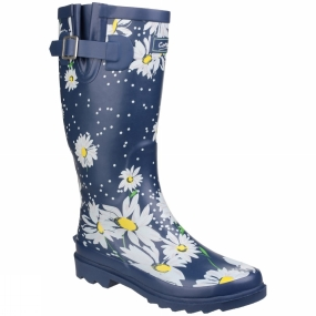 Cotswold Womens Burghley Welly Daisy