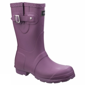 Cotswold Cotswold Womens Windsor Short Welly Purple