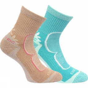 regatta-womens-active-lifestyle-sock-pack-of-2-toffee-ceramic