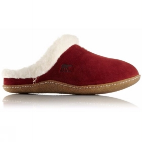 Sorel Sorel Womens Nakiska Slide Slipper Garnet Red
