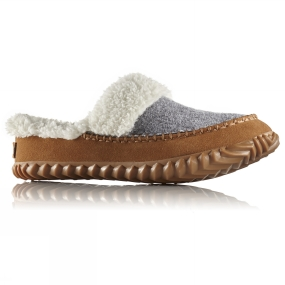 Sorel Sorel Womens Out n About Slide Slipper Light Grey/Elk