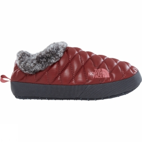 The North Face The North Face Womens Thermoball Tent Mule Faux Fur IV Shiny Barolo Red/ Iron Gate Grey