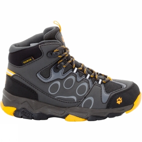 Jack Wolfskin Kids Mtn Attack 2 Texapore Mid Shoe Tarmac Grey/Burly Yellow