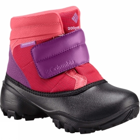 Columbia Childrens Rope Tow Kruser Boot Punch Pink / Deep Blush