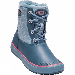 Keen Youth Elsa Waterproof Boot Captains Blue/Sugar Coral
