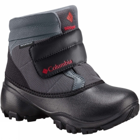 Columbia Youths Rope Tow Kruser Boot Graphite / Bright Red