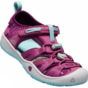 Keen Kids Moxie Sandal Red Violet/Pastel Turquoise