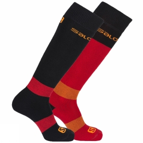 Socks Salomon Men's All Round 2 Pack Socks Black/Matador