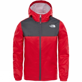 The North Face The North Face Boys Zipline Rain Jacket TNF Red/ Graphite Grey
