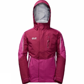 Jack Wolfskin Jack Wolfskin Kids Crosswind 3-in-1 Jacket Dark Ruby