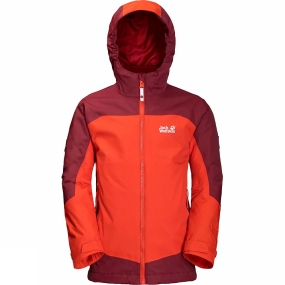 Jack Wolfskin Jack Wolfskin Boys Akka 3-in-1 Jacket Lava Orange