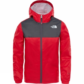 The North Face The North Face Boys Zipline Rain Jacket Age 14+ TNF Red/ Graphite Grey