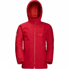 Jack Wolfskin Jack Wolfskin Kids Iceland 3in1 Jacket 14+ Ruby Red
