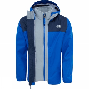 The North Face The North Face Elden Rain Triclimate Jacket Age 14+ Bright Cobalt Blue