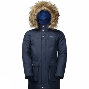 Jack Wolfskin Jack Wolfskin Boys Elk Island 3-in-1 Parka 14+ Night Blue