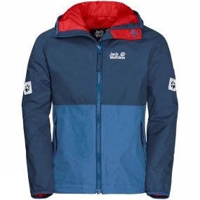 Jack Wolfskin Jack Wolfskin Boys Rainy Days Jacket 14+ Ocean Wave
