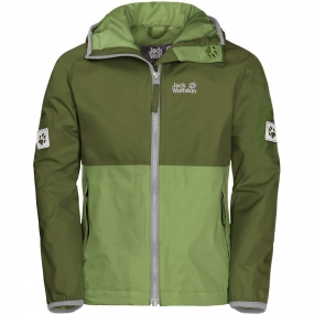 Jack Wolfskin Jack Wolfskin Boys Rainy Days Jacket 14+ Cypress Green
